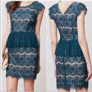 Maeve Anthropologie   Women's Lace Overlay Dress S